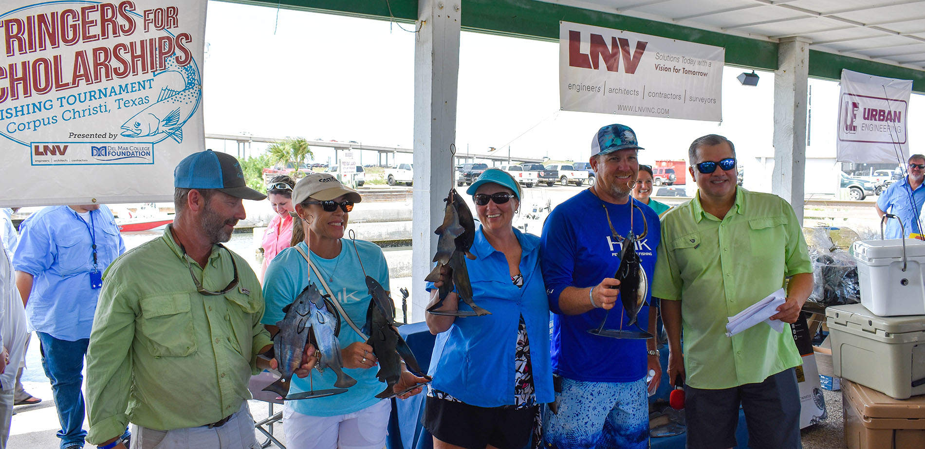 Trophy winners at the 2018 Stringers for Scholarships fishing tournament